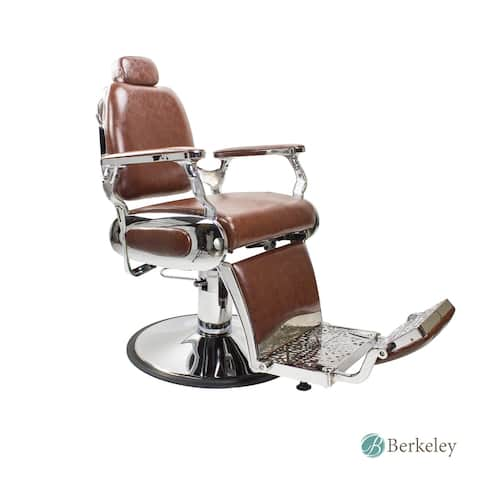 Roosevelt Vintage Style Barber Chair Reclining Heavy Duty Versatile Barber Chair, Brown