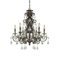 Craftmade 25626 Englewood Single Tier 6 Light Candle Style Chandelier - 29 Inches Wide