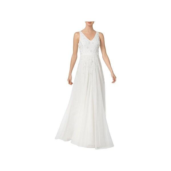 Shop Adrianna Papell Womens Wedding Dress Cascade Beaded