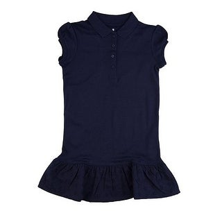Chaps School Uniform Ruffled Polo Shirt Dress CCG0011H