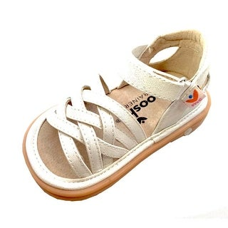 Mooshu Trainers Girls White Strappy Closed Heel Trudy Sandals