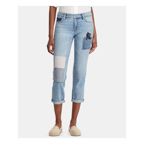 RALPH LAUREN Womens Navy Capri Jeans Size 14