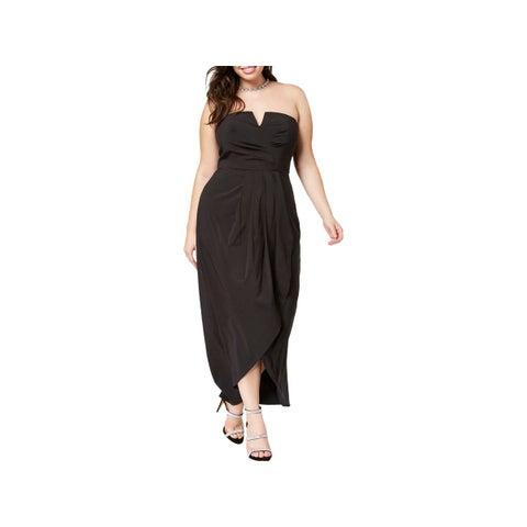 City Chic Womens Plus Semi-Formal Dress Romantic Drape