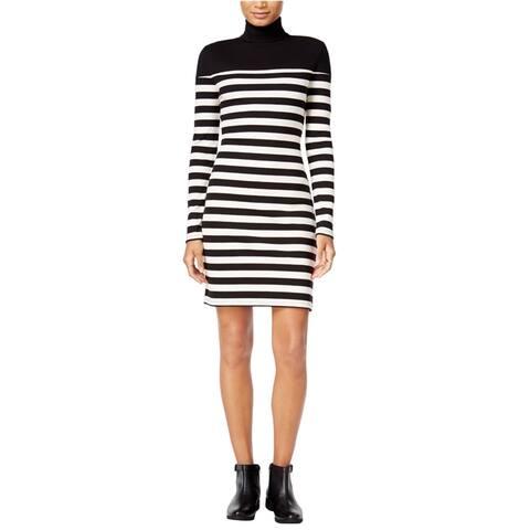 maison Jules Womens Striped Blouson Dress, Black, XX-Large