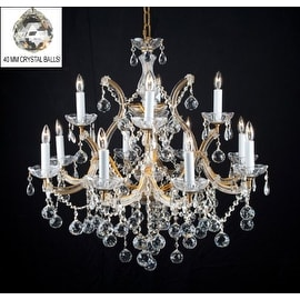 New Lighting Chandelier Lighting With Crystal Balls H30 x W28