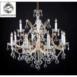 New Lighting Chandelier Lighting With Crystal Balls H30 x W28