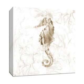 """PTM Images 9-147928  PTM Canvas Collection 12"""" x 12"""" - """"Soft Marble Seahorse"""" Giclee Sea Animals Art Print on Canvas"""