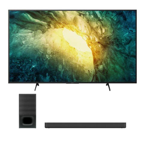 "Sony KD-X750H 55"" 4K Ultra HD LED TV (2020 Model) with HTS350 Soundbar - Black"