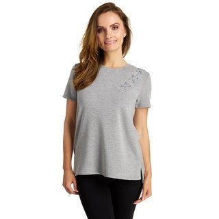 Cable & Gauge Women's Short Sleeve Baby Terry Grommet Top (More options available)
