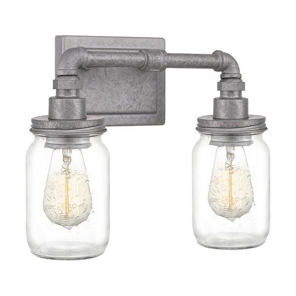 Quoizel Squire Galvanized 2-light Bath Light. Opens flyout.