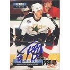 Trent Klatt Minnesota North Stars 1992 Pro Set Rookie Autographed Card  Rookie Card  This item comes with a certifica