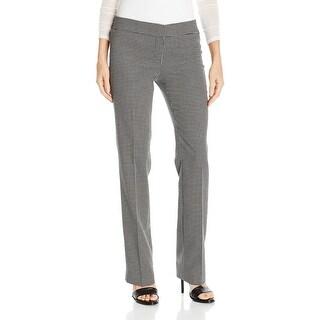 Nine West NEW Black Ivory White Women's Size 8 Checked Dress Pants