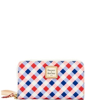 Dooney & Bourke Elsie Zip Around Phone Wristlet (Introduced by Dooney & Bourke at $108 in Apr 2016) - cherry purple