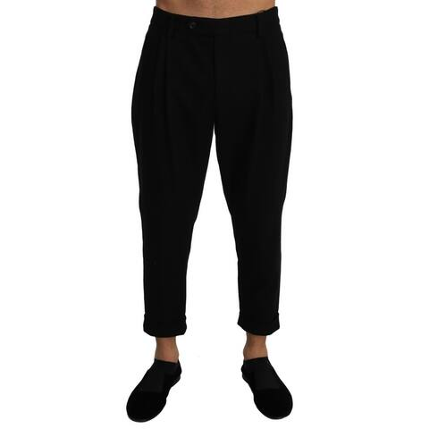 Dolce & Gabbana Wool Slim Cropped Trousers Men's Pants - w36