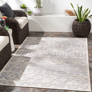 Link to Kirill Indoor/ Outdoor Southwestern Stripe Area Rug Similar Items in Rugs