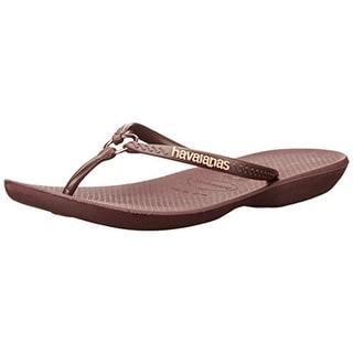 Havaianas Womens Textured Thong Flip-Flops - 11/12