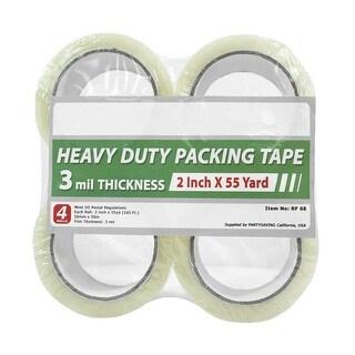 "Partysaving Heavy Duty Clear Shipping Tape, 2"" x 55 Yards"