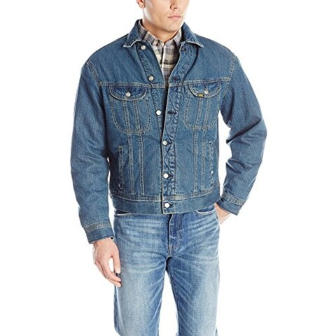 Lee Men's Sherpa-Lined Denim Jacket