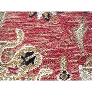 Safavieh Micro Hand-hooked Chelsea Kerman Rose/ Black Wool Rug (8'9 x 11'9)