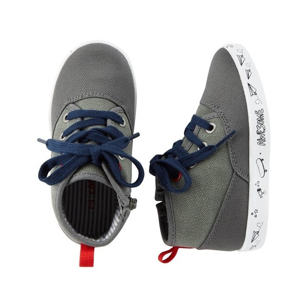 c3c297c7ae Carter's Little Boys' High Top Sneakers, Gray