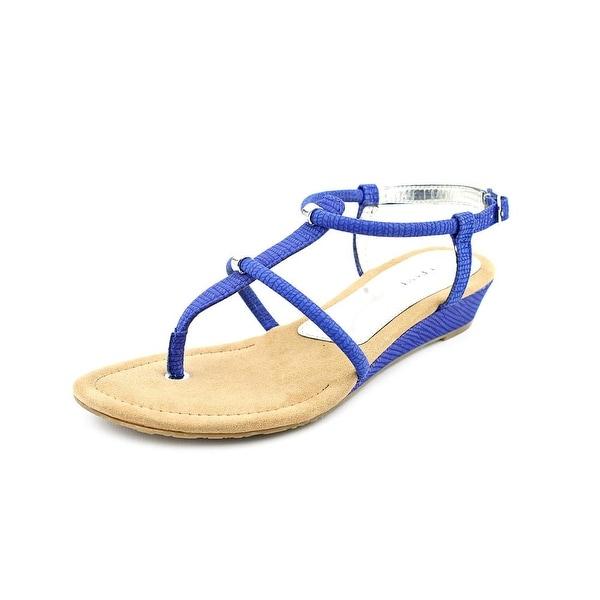 Alfani Castane Women Open Toe Synthetic Blue Thong Sandal
