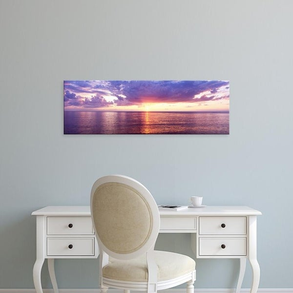 Easy Art Prints Panoramic Images's 'Sunset, Lake Superior, USA' Premium Canvas Art