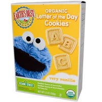 Earth's Best - Organic Sesame Street Letter Of The Day Very Vanilla Cookies ( 6 - 5.3 OZ)
