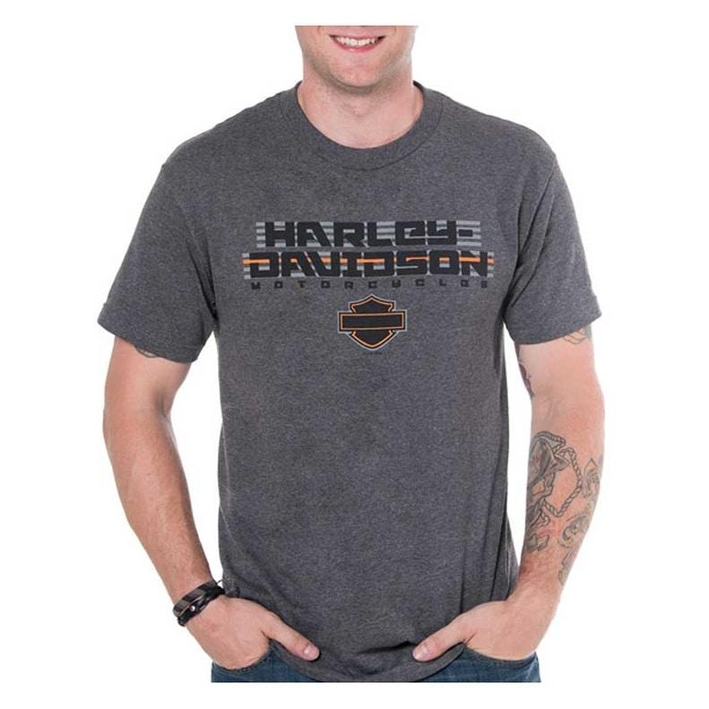 Harley-Davidson Men/'s Custom Speed Legend Short Sleeve Crew Tee Washed Gray