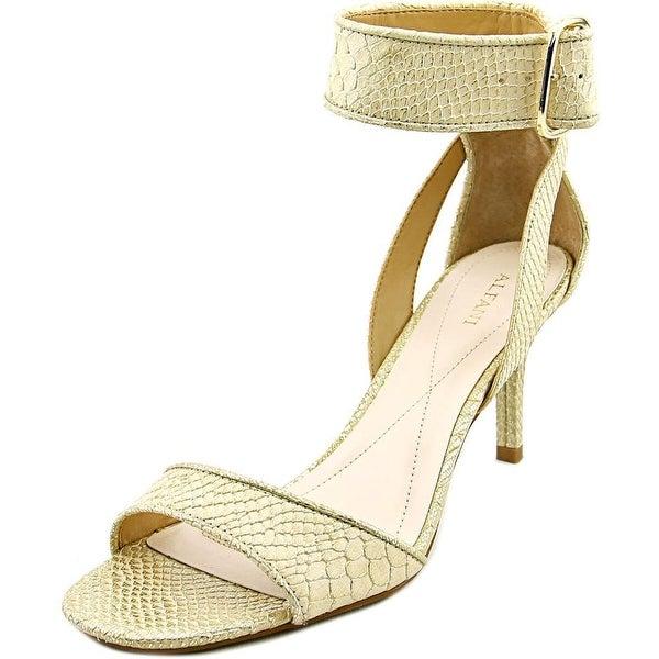 Alfani Casedy Women Open Toe Synthetic Gold Sandals