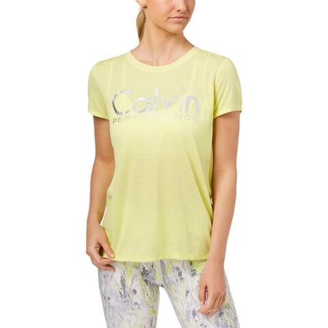 Calvin Klein Performance Womens T-Shirt Fitness Workout