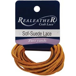 """Gold Nugget - Sof-Suede Lace .094""""X2yd Packaged"""