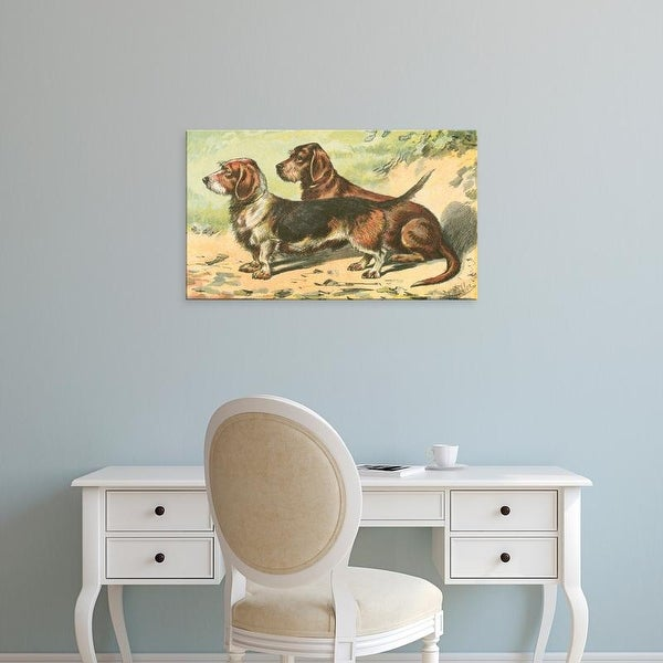 Easy Art Prints Unknown's 'Man's Best Friend IX' Premium Canvas Art