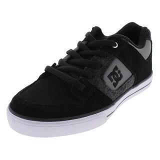 DC Shoes Boys PURE SE Skateboarding Shoes Low Top Lace Up