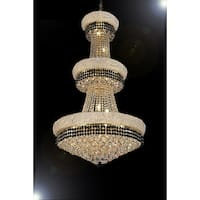 French Empire Crystal Chandelier Lighting Trimmed with Jet Black Crystal