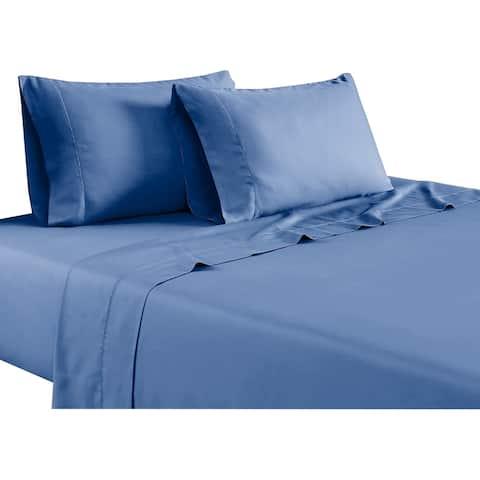 Tulsa 1200 Thread Count Tri Blend 6 Piece King Sheet Set, Blue By The Urban Port