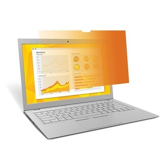 """3M Gh140w9b Gold Privacy Filter F/ 14"""" Widescreen Laptop W/ High Resolution Dp"""