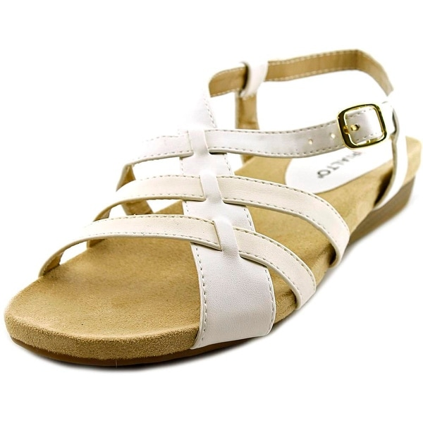 Rialto Charity Women Open-Toe Synthetic White Slingback Sandal