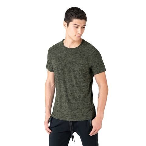 Kyodan Mens Short Sleeve Moss Jeresy Soft Workout Gym T-Shirt