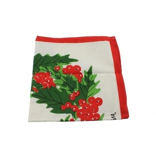 Vera Wreath Christmas Holiday Linens Napkin