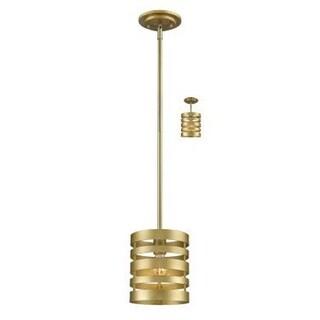 Zlite 441MP-SG 1 Bulb Mini Pendant Light - Satin Gold