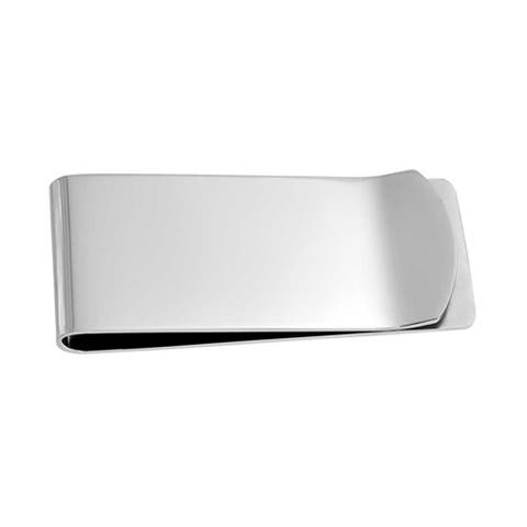 Money Clip Plain Engravable Credit Card Silver Tone Stainless Steel - 2