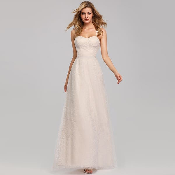 Shop Ever Pretty Womens Floral Lace Elegant Long Bridal Gowns