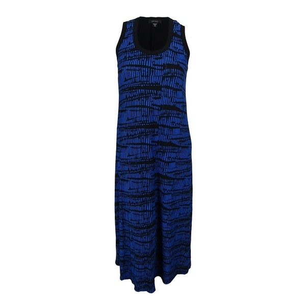 04fe68e871 Shop Karen Kane Women s Graphic Print Aventura Maxi Dress - Black Blue - 0X  - Free Shipping Today - Overstock - 15014332