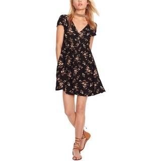 Denim & Supply Ralph Lauren Womens Casual Dress Floral Print Henley