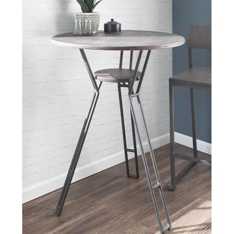 Carbon Loft Sala Industrial Counter Height Dining Table with Built-In Shelf