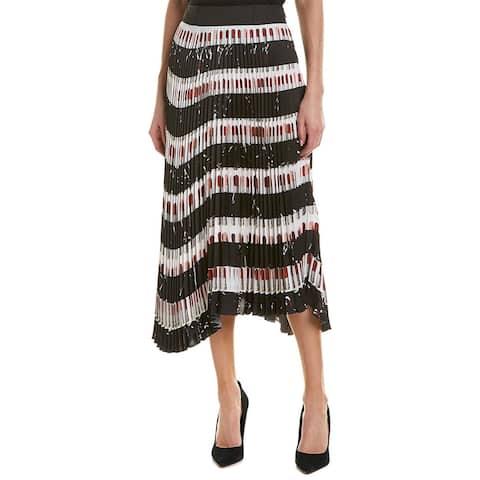 Prada Pleated Midi Skirt