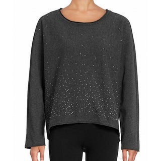 Marc New York NEW Gray Women's Size Large L Studded Scoop Neck Sweater