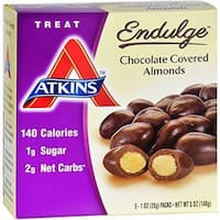 Atkins 1583590 1 oz Endulge Chocolate Covered Almonds - 2 Count