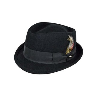 Deluxe Pinchfront Fedora Hat in Black
