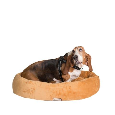 Armarkat Bolstered Pet Bed and Mat, ultra-soft Dog Bed, Brown, Medium